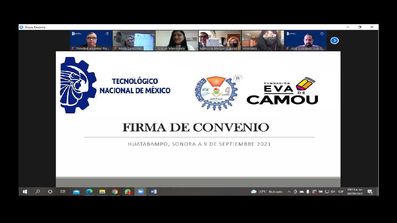 FIRMAN RENOVACIÓN DE CONVENIO TECNM, CAMPUS HUATABAMPO Y FUNDACIÓN EVA DE CAMOU PARA FORTALECER CALIDAD EDUCATIVA
